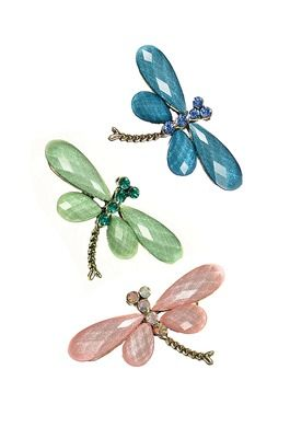 DRAGONFLY BROOCH GREEN