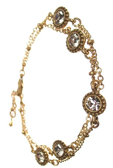 HIGH 5 CRYSTAL GOLD BRACELET