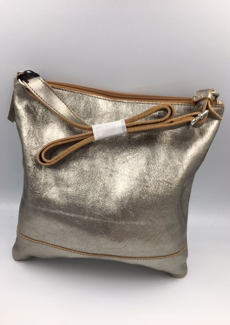 LEATHER ALL IN 1  CROSS BODY LIGHT GOLD